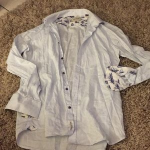 Ted baker archive sailboat button down